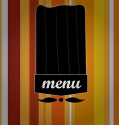 Menu design vector
