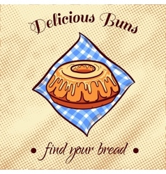 Bread on a napkin 18 vector