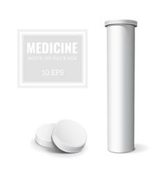 Template medicine box vector