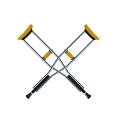 Crutch cartoon icon isolated on white background vector