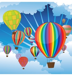 Air balloons in the sky4 vector