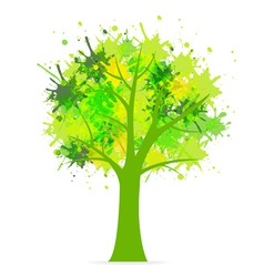 Splatter tree vector
