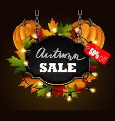 Autumn sale signboard vector