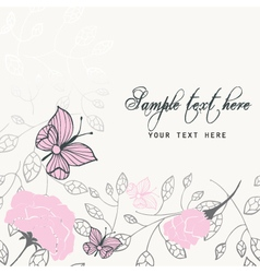 beautiful invitation vector image vector image