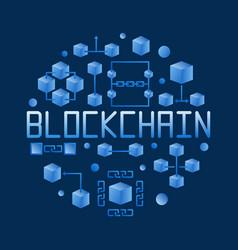 Blockchain colored round concept vector