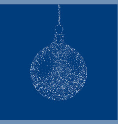 Blue background with abstract christmas ball vector