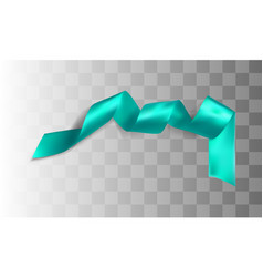 blue realistic silk ribbon vector image vector image