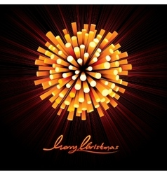 Christmas Fireworks Background vector image vector image
