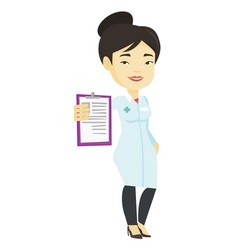 doctor with clipboard vector image vector image