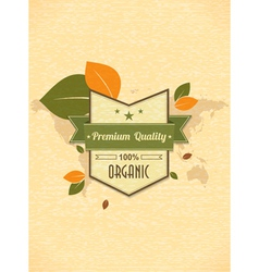 eco friendly label vector image vector image