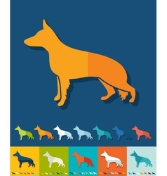 Flat design german shepherd vector