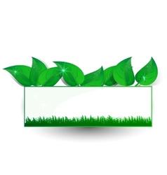 green banner petal vector image vector image