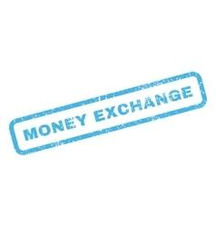 Money exchange rubber stamp vector