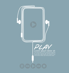 Music Player EPS10 vector image vector image
