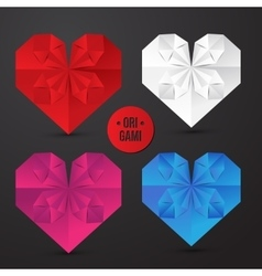 Origami heart vector image vector image