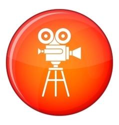 Retro film projector icon flat style vector image