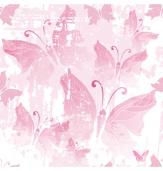 Seamless pink grunge pattern vector image vector image