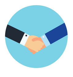 Shaking hands business symbol vector