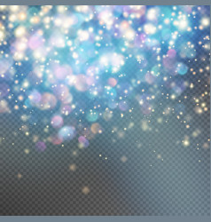 Stardust on a transparent background EPS 10 vector image vector image