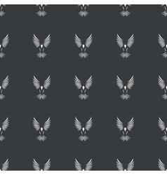 Straight black flying bird pattern vector