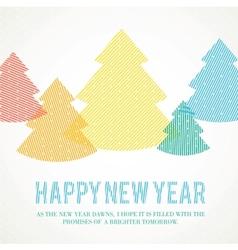 Winter fir trees vector image vector image