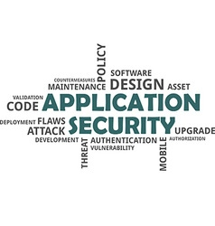 Word cloud application security vector