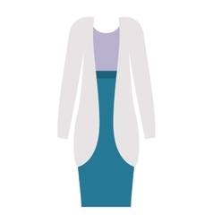 Isolated female formal cloth design vector