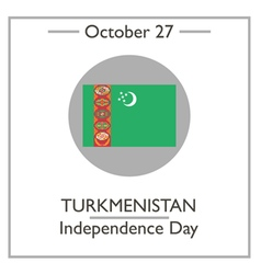 Turkmenistan independence day vector