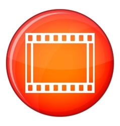 Film with frames movie icon flat style vector
