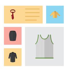 flat clothes set of singlet banyan cravat and vector image