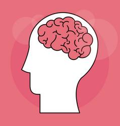 human head brain mind intelligence vector image