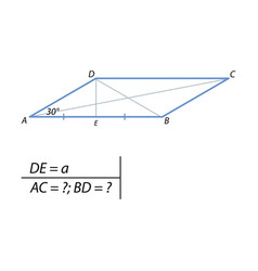 the task of finding a diagonal parallelograms vector image