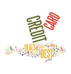 Best credit card offer is still possible text vector