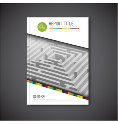 Abstract brochure report or flyer design template vector
