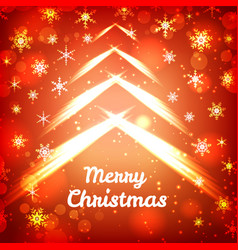 Merry christmas bright template vector
