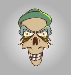 head cartoon character vector image
