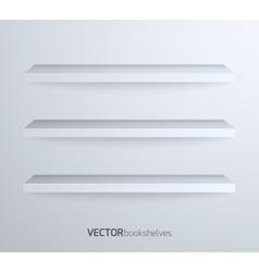 Empty book shelves vector image