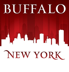 Buffalo new york city skyline silhouette vector