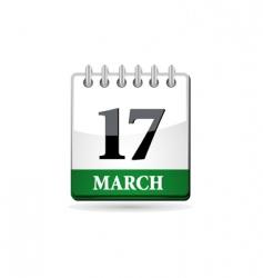 St patrick day calendar vector