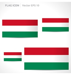 Hungary flag template vector