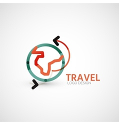 travel company logo business concept vector image