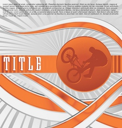 dynamic sport series bmx vector image