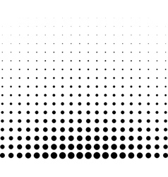 Graphical black and white gradient in halftone vector