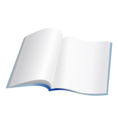 Open notebook with clear pages vector