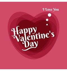 Happy valentines greeting card template vector