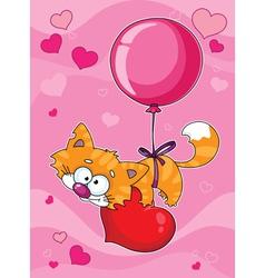 Valentines kitten vector