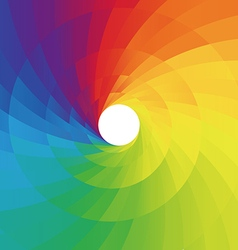 Abstract colorful spiral background vector image