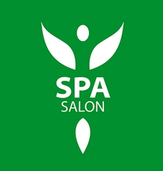 Abstract logo girl with wings for the spa salon vector