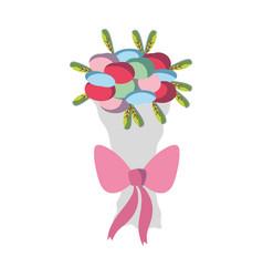 Beautiful flower bouquet decoration design vector