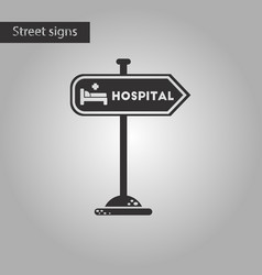 Black and white style icon hospital sign vector